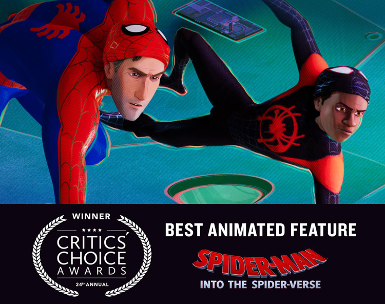 'Spider-Man: Into the Spider-Verse' Wins Best Animated Movie at 'Critics' Choice Awards'