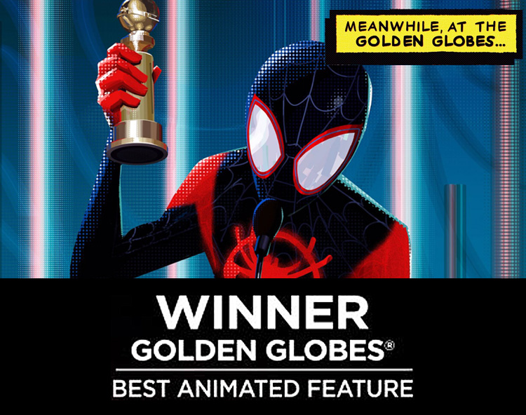 Spider-Man: Into the Spider-Verse wins the Golden Globe for Best Animated Feature